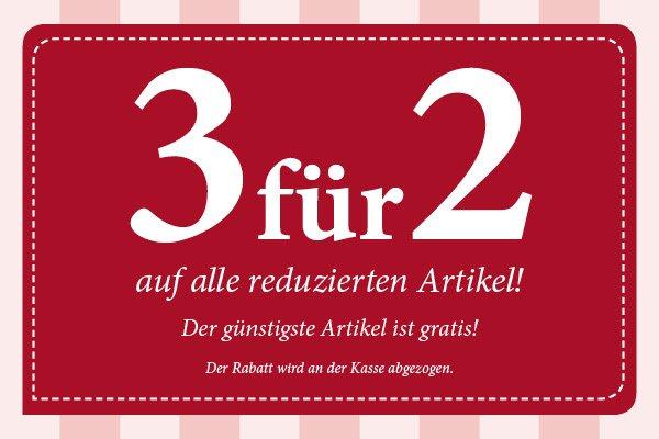 Takko -- 3 für 2 -- auf alle reduzierten Artikel, der günstigste Artikel ist gratis