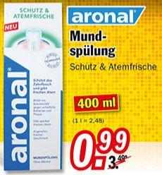 [ZIMMERMANN] Aronal Mundspülung Schutz & Atemfrische 400ml für 0,99€