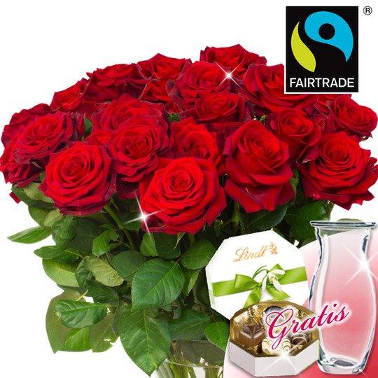 [Floraprima] 30 bzw 20 Fairtrade Rosen rot, jetzt schon an Valentinstag denken ;-)