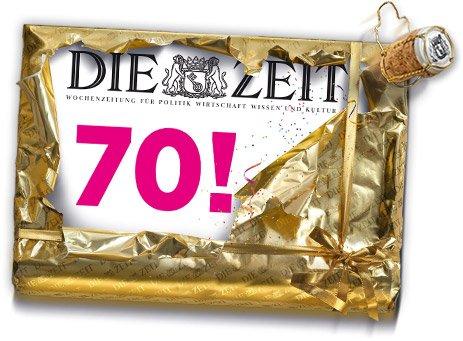 70 Jahre DIE ZEIT, 7x DIE ZEIT inkl. Jubiläumsausgabe und ZEITmagazin plus Geschenk für 14,40€