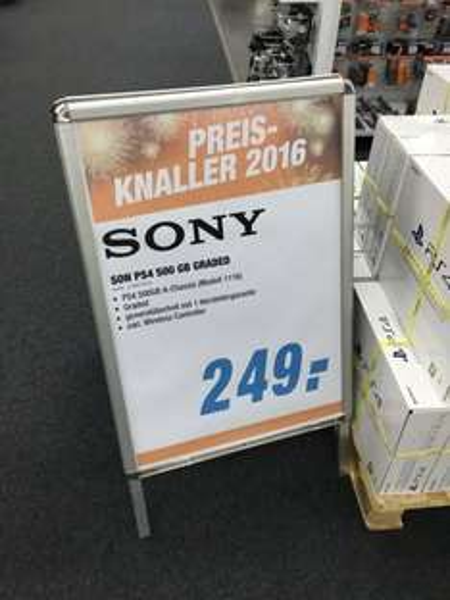 "[Expert Bonn] Sony Playstation 4 500 GB ""graded -> B-Ware"", Preis-Knaller 2016"