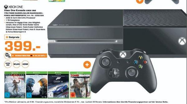 Xbox One 1Tb Incl. 4 Games Hammer Preis