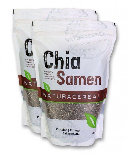 Naturacereal Chia Samen (2 x 1 kg) für 15,96€ @ Amazon (mit Prime)