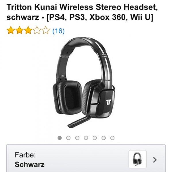 [amazon warehouse-deals] Tritton kunai wireless stereo headset schwarz [ps4, ps3, Xbox 360, Wiki u] 30,86€ anstatt neu 83,98€ ... Zustand gebraucht sehr gut