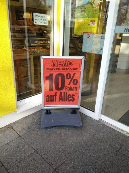 Netto Hamburg Alsterkrugchausee 10% auf alles