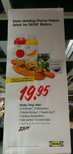 Ikea Hot Dog Party Paket (32 Hot Dogs) für 19.95€ statt 27.25€