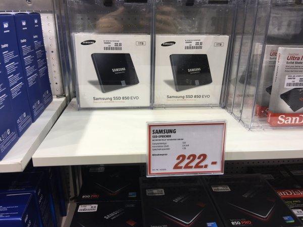 SSD Samsung EVO 850 1TB 222€  und viele weitere Angebote (Leipzig, Dreamhack)