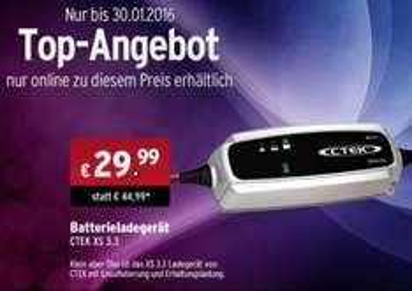[ATU] Ctek XS 3.3 Batterieladegerät 34,97€