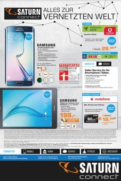 Saturn Connect Köln: Samsung Galaxy S6 Edge mit einem effektivem Tarif von 6,32€ pm