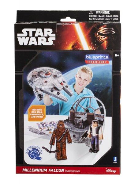[Amazon Plus Produkt] Jazwares 12905 - Blueprints Star Wars Milleniumfalke Papier Bastelset, 48 Teile für 3,49 € / VGP 18,97 €