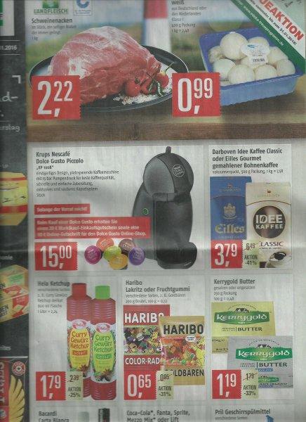 Dolce Gusto Piccolo für - € 5,- durch 20,- Marktkauf Einkaufsgutschein
