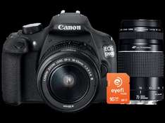 [Saturn SuperSunday] Canon EOS 1200D Kit 18-55 mm + 75-300 mm Canon III + Eyefi Wlan-Speicherkarte für 488€