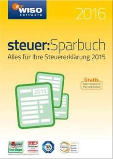 WISO Steuer: Sparbuch 2016 Vollversion Windows (CD-ROM) für 19,99