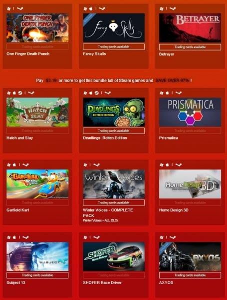 indiegala - 12 Steamspiele für 3,58€ - Überwiegend positiv