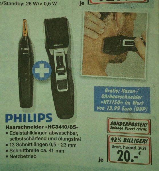 *Bundesweit,außer BY und BW* Duisburg Kaufland Philips Haarschneider HC3410/85 mit gratis Nasen/Ohrhaarschneider