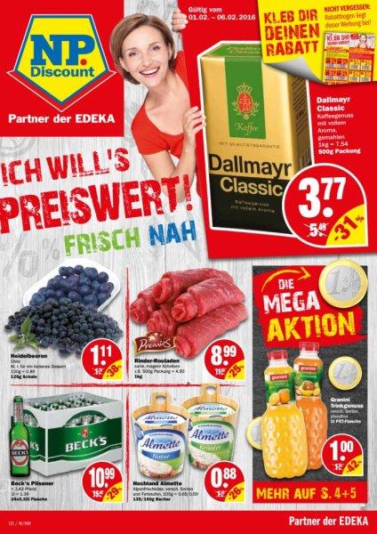 Granini Trinkgenuss für 1€/0,95€/0,90€ bei NP(Niedrigpreis Discount)