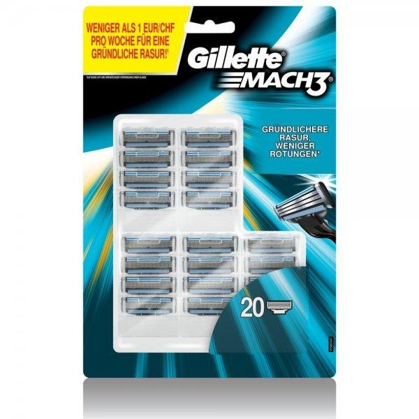 [AMAZON PRIME] Gillette Mach3 Klingen, 20 Stück