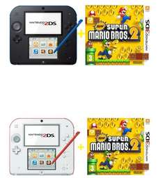[Saturn Östereich] Nintendo UE 2DS New Super Mario Bros. 2 Special Edition rot/weiß oder Nintendo UE 2DS Black + New Super Mario Bros.2 Limited Edition Pack für je 73,-€ inc.Versand mit zusätzlicher Tasche.Ohne Tasche für 68,-€ mit NL Gutschein