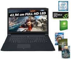 [One] One Gaming Notebook K73-6O Intel® Core i7-6700HQ Prozessor (4 x 2.60 - 3.50 GHz im Tubo-Modus) - 8192 MB DDR3 Speicher - 1000 GB /SATA Festplatte - DVD Brenner Laufwerk - 2048 MB NVIDIA® GeForce® GTX 965M