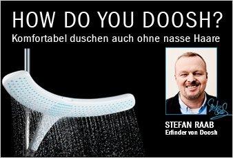 Stefan Raab Duschkopf Doosh @ Galeria Kaufhof für 10,49 Euro bei Filialabholung (bei Lieferung + 3,95 Euro)