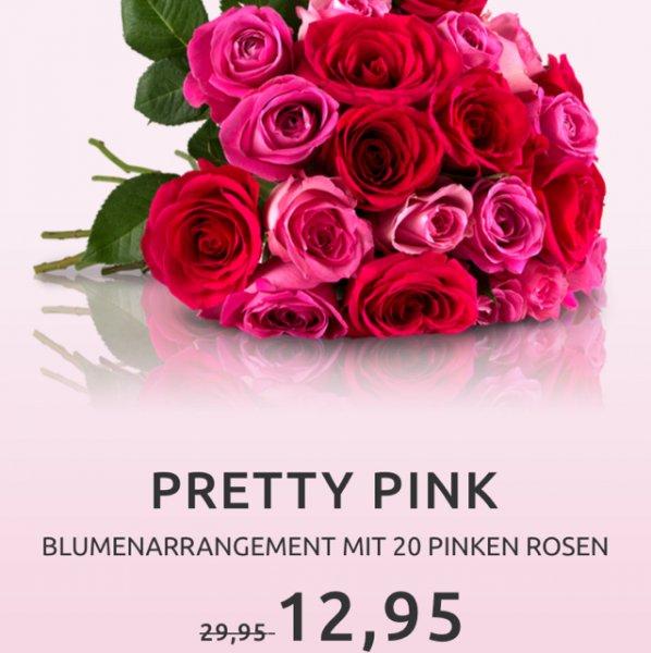 [miflora] 20 pinke Rosen inkl. Versand 17,90€ Vgp Ca. 23-25€