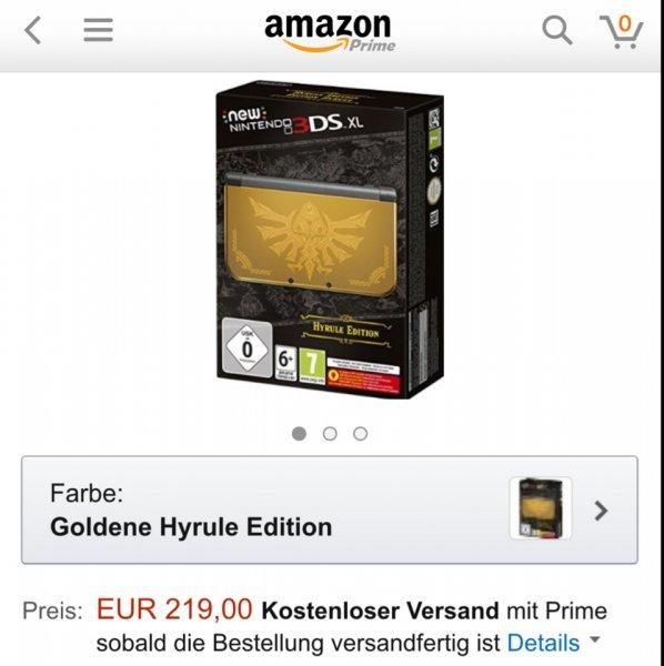New Nintendo 3DS XL Hyrule Edition PAL linitiert