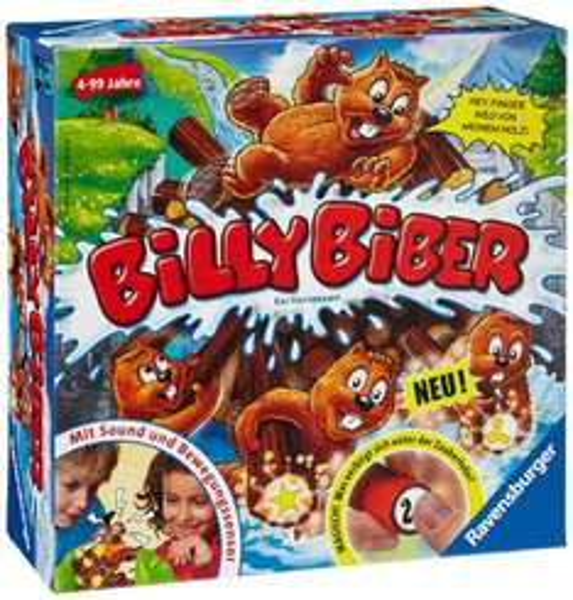 "Ravensburger - Kinderspiel ""Billy Biber"" (amazon) 10€ für Prime Kunden"