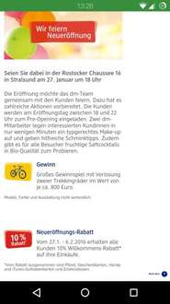 DM Drogerie Stralsund vom 27.1.- 6.2. 10% Rabatt auf gesamten Einkauf