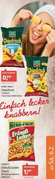 [Aldi-Süd] Funnyfrisch Gesalzen/Sour Cream/Wild Onion je.175g für 0,99€ und Lorenz Erdnuß Locken 350g für 1,19€ (Bestpreis?) am 06.02.2016