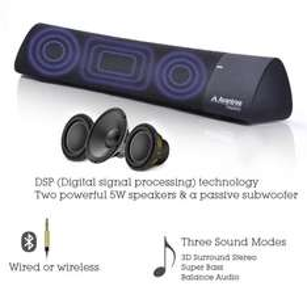 Amazon.de: Bluetooth 4.0 Soundbar mit 3D Surround Stereo Klang mit Ultra Bass Effekt schwarz Avantree Torpedo