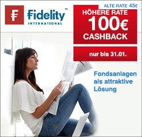 [Qipu - Fidelity] 100 € Cashback bei 500 € Einmalanlage oder 300 € Fonds-Sparplan (12x25 €)