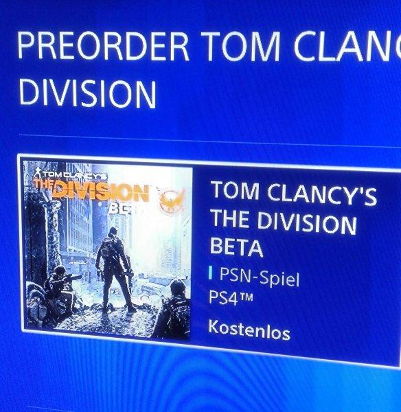 [PS4] The Division BETA durch kostenloses Vorbestellen