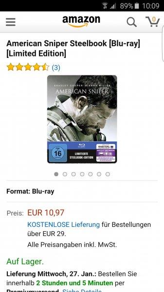 (Amazon ) American Sniper Steelbook 10.97Euro