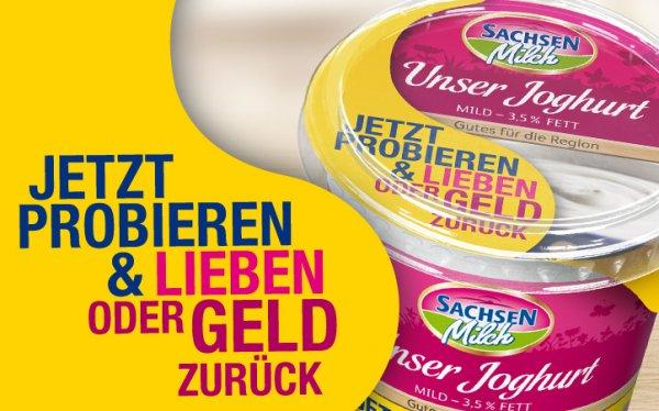 """Gratis testen: Sachsenmilch """"Unser Joghurt mild"""" - 3,5% Fett, 500g - GZG"""