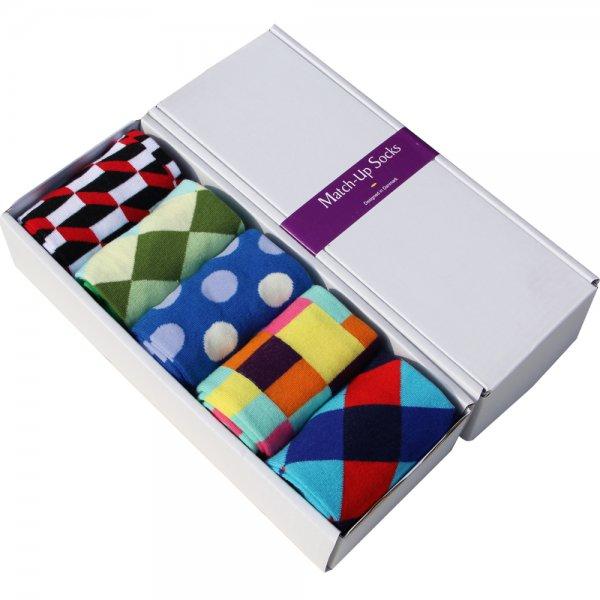 Modisch - farbenfrohe Sockenbox in diversen Farbkombinationen