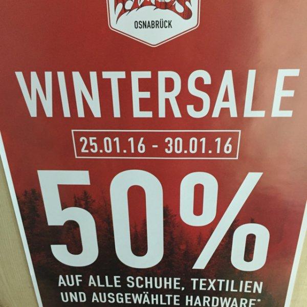 [Lokal Osnabrück] - 50% bei Titus auf Schuhe, Textilien und ausgewählte Hardware