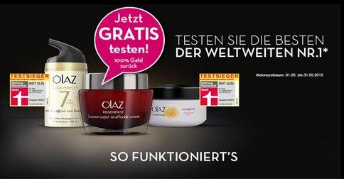 GRATIS TESTEN: Olaz Produkt nach Wahl testen - 100% Geld zurück
