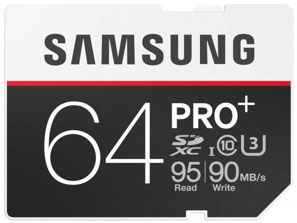 Samsung Speicherkarte SDXC 64GB PRO Plus UHS-I Grade U3 Class 10 (bis zu 95MB/s lesen, bis zu 90MB/s schreiben) @Amazon