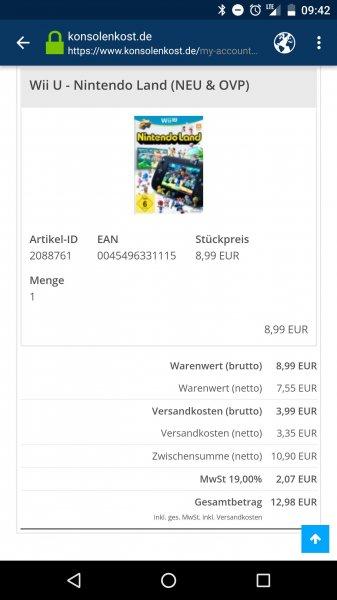 Nintendo Land WiiU für 12,98