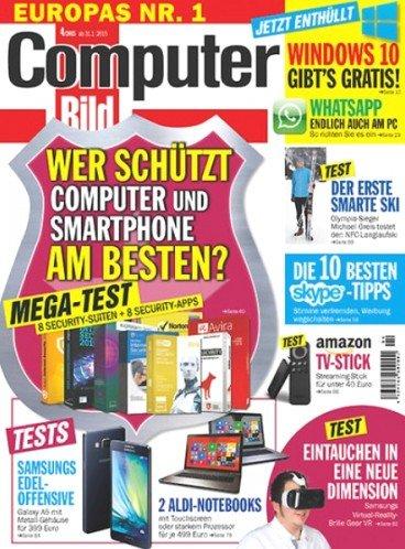 """Halbjahresabo (13 Ausgaben) """"Computer Bild mit DVD"""" für 15,00€ durch 50,00€ Direktrabatt mit Gutscheincode (statt 5€ pro Ausgabe im Einzelpreis)"""