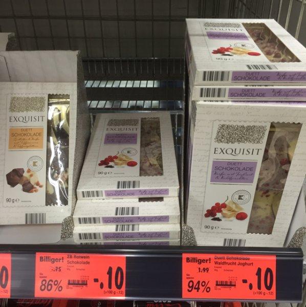 0,10€ Exquisit Schokolade verschiedene Sorten [Kaufland] Velbert