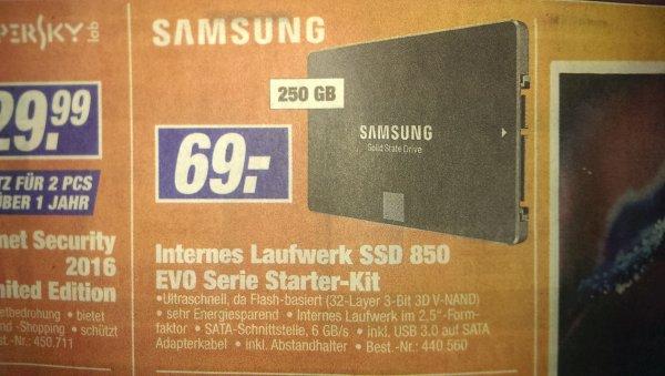 [Lokal Neuötting] Samsung SSD 850 EVO Serie Starter-Kit 250GB für 69€