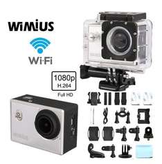 WIMIUS S2 Actionkamera WIFI Sport Action Kamera Actioncam Helmetcam HD 1080p 60fps 12MP 1,5 Zoll 40 M Wasserdicht@Amazon 68,99 €
