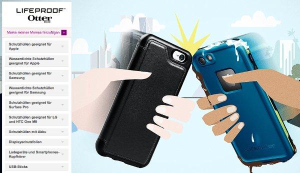 Otterbox & Lifeproof Handyhüllen, Displayschutzfolien und vieles mehr für Apple, Samsung, LG, Microsoft-Geräte bei vente-privee