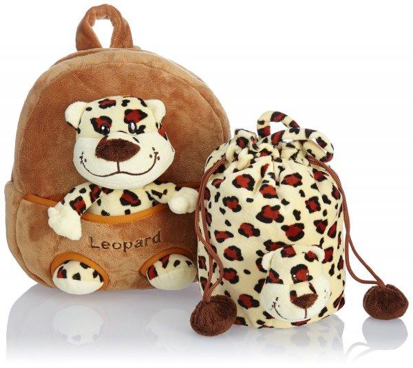 @Amazon: HAUPTSTADTKOFFER Kinder-Rucksack Kinderrucksack 4.5 Liter Braun HKK-2361-Leopard für 11,99€ oder blau für 15,85€ / Idealo ab 39,95€