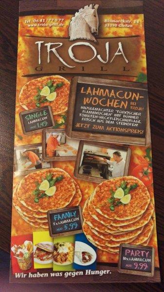 (Lokal Gießen) Lahmacun ab 1,49 €