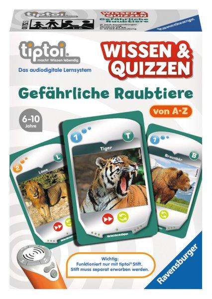 """Ravensburger 00752 - tiptoi Spiel Wissen & Quizzen: Gefährliche Raubtiere"""" & 2 weitere"""