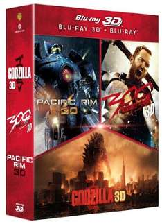 Godzilla + Pacific Rim + 300 - alle in 3D (Amazon.fr)