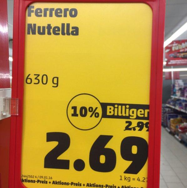 Evtl. Lokal, Rheinstetten, Nutella 630g
