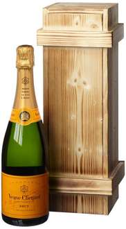 [AMAZON] Champagner - Veuve Clicquot Brut in Holzkiste DGN geflammt (1 x 0.75 l) - 37,99